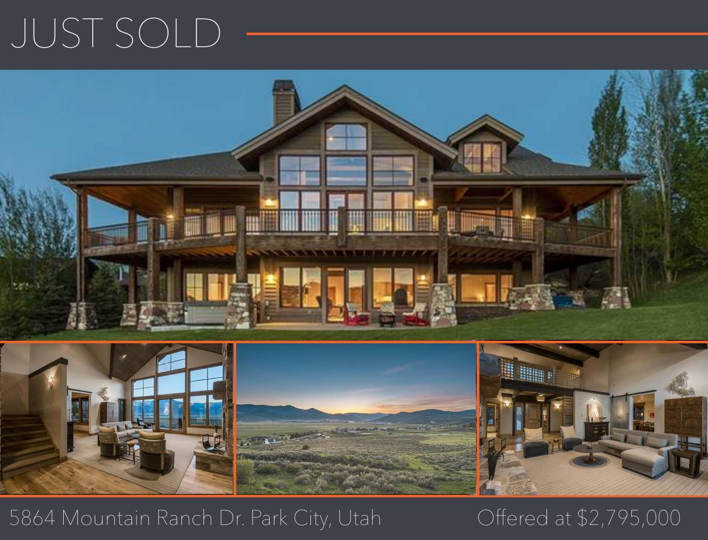 SOLD 5864 Mountain Ranch Drive, Park City Utah