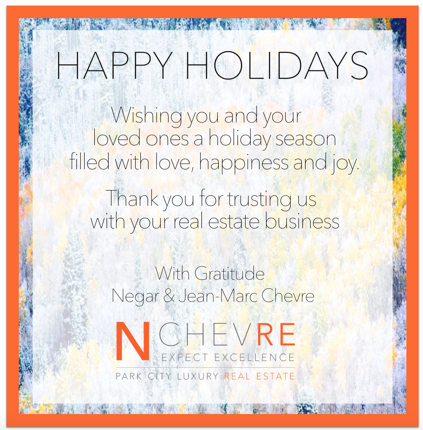 Happy Holidays Nchevre Real Estate