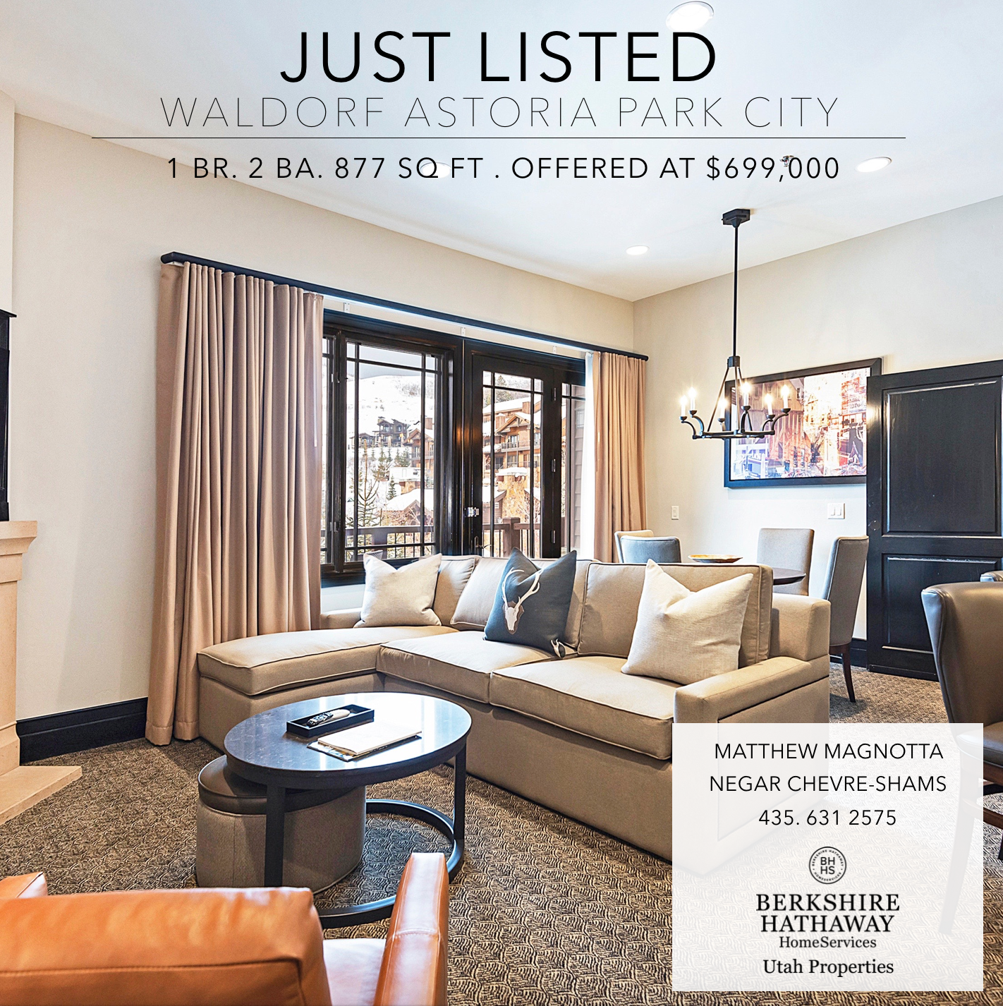 Waldorf Astoria Park City For Sale